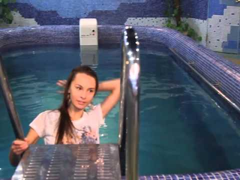 Cute Girl Swims Fully Clothed