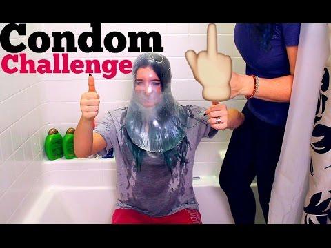 CONDOM CHALLENGE   THE CONDOM BROKE!!!!!! Mackenzie Marie