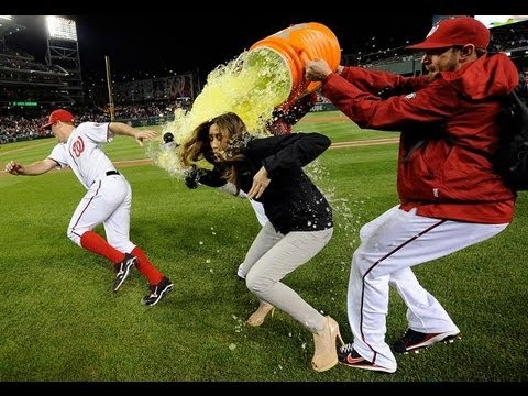 Hot Julie Alexandria Pranked AGAIN with another Gatorade shower. FUNNY Prank