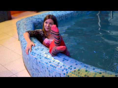 Girl in Pool Fully Clothed (HD)